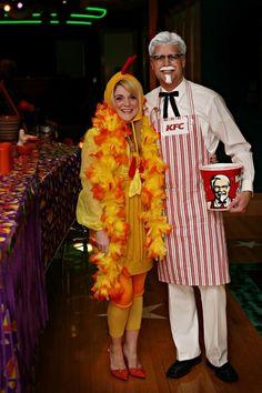 halloween costumes for girls kostuem-paare-kfc-mann-haehnchen