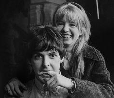 Jane Asher with Paul McCartney, 1965.