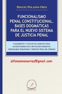 LIBROS EN DERECHO: FUNCIONALISMO PENAL CONSTITUCIONAL BASES DOGMÁTICA...