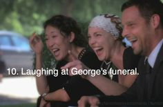 """""""Dude, George got hit by a bus!"""" Hahahahaha!!!! Loved this part."""