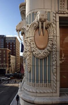 Detail on facade of The Arctic Club (now hotel) in Seattle | Great Hotel! (Facade is spectacular now that the terra cotta walruses have been restored)