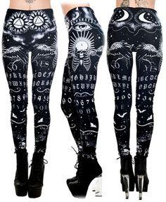 Ouija Board Black & White Leggings - FTGS