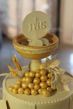 Holy Communion Chalice Cake cakepins.com More
