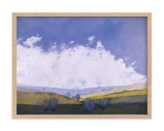 """""""Midwestern Fields"""" - Art Print by Kara Schlabaugh in beautiful frame options and a variety of sizes."""