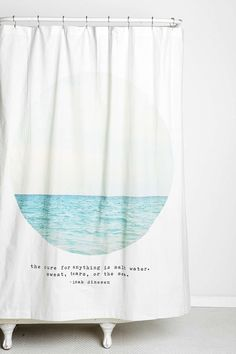 Tina Crespo Salt Water Cure Shower Curtain - Urban Outfitters $64