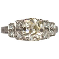 Engagement Ring Types, Platinum Engagement Rings, Cut And Color, Types Of Metal, Stone, Diamond, Antiques, Clarity, Finger