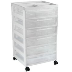Organizing your craft and scrapbooking projects is a breeze. This six-case storage system o...