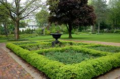 Landscaping with Boxwood Hedges - Check out the free plant identification mobile app at GardenAnswers.com