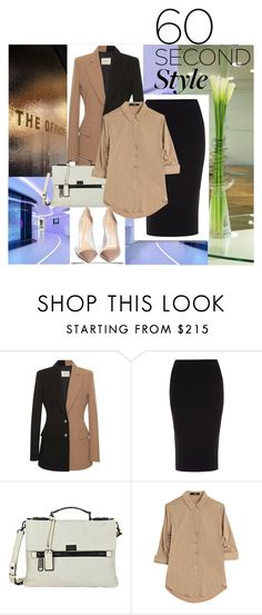 """60 Second Style: Tech Job Interview"" by ladygroovenyc ❤ liked on Polyvore featuring FAUSTO PUGLISI, Roland Mouret, Joy Gryson, Steffen Schraut and Gianvito Rossi"