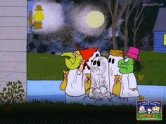 Charles Schultz's Halloween special... taught us how to trick or treat, and was sponsored by Dolly Madison snack cakes (do they still exist?)  This is cool wallpaper.