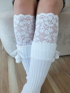cowgirl lace boot cuff | Lace Boot Cuff // Boot Socks off white Boot Topper by LadyVIVIENN, $15 ...