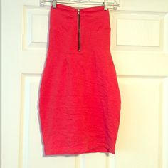 Material Girl Bodycon Dress Super stretchy, never worn but no tags, it's like a red orange color Material Girl Dresses