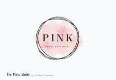 Watercolor Pink Gold Foil Geometric Logo Design by Madame Levasseur, The Paris Studio #LogoDesign #Wordpress #Website Header #boutique #Branding #restaurant #photography #ecommerce #retail