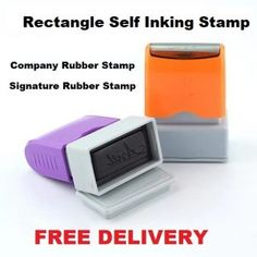 Red Ink SIGNATURE REQUIRED Self Inking Rubber Stamp