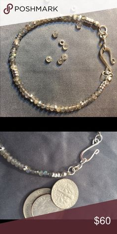 💥NEW💥 Cloudy Day Bracelet Shimmering, designer quality labradorite with Sterling silver beads and clasp. 3mm stones. All of my pieces are one of a kind and come with a gift box! 🌹 Thank you for taking a closer look! Brindleracer Designs Jewelry Bracelets