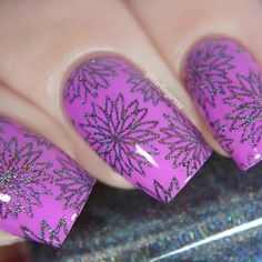 Colors by llarowe Stamping Polish - Chimney Sweeped stamped using Bundle Monster BM 155 plate by @glitterfingersss on Instagram.