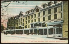 DELAWARE WATER GAP, PA ~ Winter View, Kittatinny Hotel 1909 Postcard in Collectibles, Postcards, US States, Cities & Towns | eBay