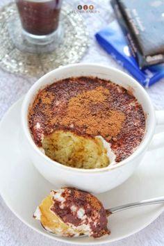 Tiramisu Mug Cake Recipe - Easy Mug Cake Recipes Microwave Mug Recipes, Mug Cake Microwave, Easy Cake Recipes, Healthy Dessert Recipes, Healthy Food, All You Need Is, Chocolate Mug Cakes, Chocolate Coffee, Baking Chocolate