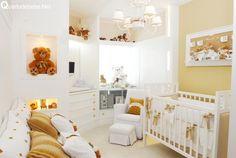 quarto bebe bege branco ursinhos