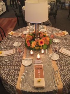 Beautiful tablescape from our 2015 Ambassadors Gala.
