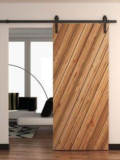 cheap barn door hardware classic strap black finish #diyfurniturecheap #cheapmodernfurniture