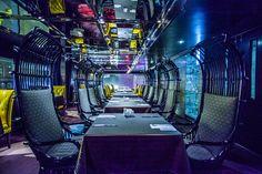 """futurelust: """"Photograph Cyberpunk Dinner by Stefan Tanase. Located in Hong Kong """" Futuristic Interior, Futuristic Art, Cyberpunk City, Cyberpunk 2077, Neon Noir, Restaurant Concept, Shadowrun, Future City, Weird World"""