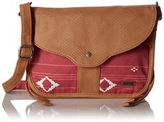 Women's Cross-Body Handbags - Roxy Guitar Song Cross Body Bag Noosa Geo Combo Faded Rose One Size * Click image for more details.