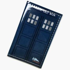 TARDIS Vinyl Passport Cover.. PERFECT for travel :)