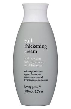 This makes my hair look thicker and more healthy!  A little goes along way.   Living proof® 'Full' Body Boosting Thickening Cream for All Hair Types available at #Nordstrom