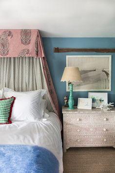 gray bedroom with pop of color Matilda Goad Pop-Up Shop - London Pop Ups Grown Up Bedroom, Master Bedroom, Bedroom Decor, Gray Bedroom, Master Suite, Kids Bedroom, Wall Decor, Grey Bedroom With Pop Of Color, End Of Bed Bench