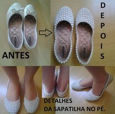 You can find these shoes at Walmart for cheap. Diy Clothes And Shoes, Diy Clothing, Hot Shoes, Baby Shoes, Diy Fashion, Fashion Shoes, Shoe Makeover, Shoe Refashion, Shoe Crafts