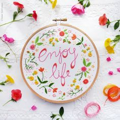 Welcome to my shop. Enjoy Life Embroidery design can be appliqued to a pillow cover or a bag. It can also make an excellent wall decoration, framed in a hoop or any other frame of your choice. Perfect as a gift or a lovely addition to your home. Bouquet o