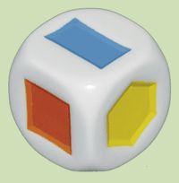 Würfel mit geometrischen Formen
