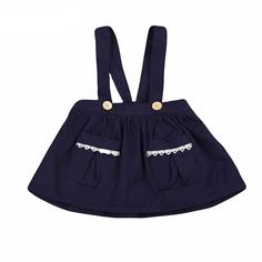 Lace Pocket With Detailed Button Overall Skirt from kidspetite.com!  Adorable & affordable baby, toddler & kids clothing. Shop from one of the best providers of children apparel at Kids Petite. FREE Worldwide Shipping to over 230+ countries ✈️  www.kidspetite.com  #skirts #girl #baby #newborn #infant