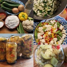 Zoetzuur van courgettes – Ingridzijkookt Fresh Rolls, Cobb Salad, Health, Ethnic Recipes, Trees, Zucchini, Health Care, Tree Structure, Wood