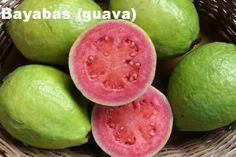 The Guava is an extremely healthy, vitamin-filled tropical fruit. The Guava fruits, with edible seeds and rind, are round, oval or pear-shaped. Guava Jam, Pink Guava, Guava Juice, Strawberry Guava, Exotic Fruit, Tropical Fruits, Guava Benefits, Health Benefits, Fruit Benefits