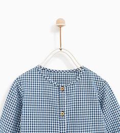 Image 2 of RUFFLED GINGHAM SHIRT from Zara