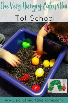 The Very Hungry Caterpillar Tot School | Activities that revolved around the ever popular book, The Very Hungry Caterpillar. See what we did during our caterpillar study for Tot School. Click through to see more.