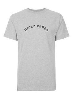 DAILY PAPER Grey Arc Logo T-Shirt