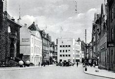 Sct. Mathias Gade i Viborg i 1938. Til venstre ses kreditforeningen og missionshotellet, til højre Mathiasport og Sct. Mathias Apotek.
