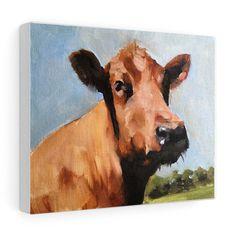 Cow Painting, Cow Art, Cow PRINT - Cow Oil Painting, Holstein Cow, Farm Animal Art, Farmhouse Art, Prints of Farm Animals, Farm Wall Art by JamesCoatesFineArt2 on Etsy Holstein Cows, Cow Painting, Cow Art, Farm Animals, Wrapped Canvas, Moose Art, Original Paintings, Farmhouse, Oil