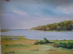 On Jack Knife Point Road - Cape Cod - watercolor