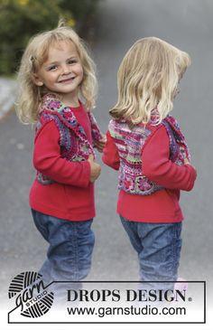 """Crochet DROPS bolero in """"Fabel"""". Size 3 - 12 years. ~ DROPS Design"""