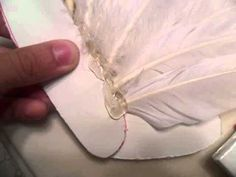 How to make; Feather Angel Wings. bad spelling but basic idea is good thought.