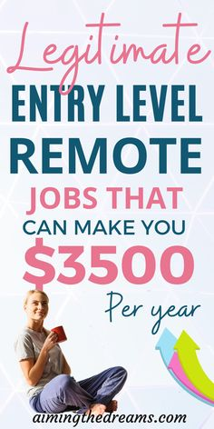 Entry level remote jobs to start working from home. These legitimate work from home jobs will help you stay at home with kids and work on your own routine. Make money from home with these remote jobs. Legitimate Work From Home, Work From Home Jobs, Virtual Assistant Jobs, Teaching English Online, Freelance Writing Jobs, Job Career, Entry Level, Online Jobs, Going To Work