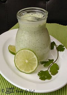 Cilantro Dressing... Hmm. I wonder if this is the same as what my aunt makes, gonna have to ask for her recipe. hhah.