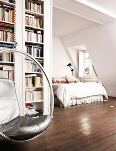 Bedroom Book Alcove ~ Yes, please! (via dustjacket attic)