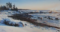 "Breakers at Dawn by Susan Paterson Watercolor ~ 15"" x 27"""