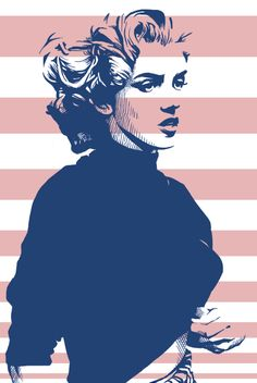 Young Marilyn Monroe pop art.