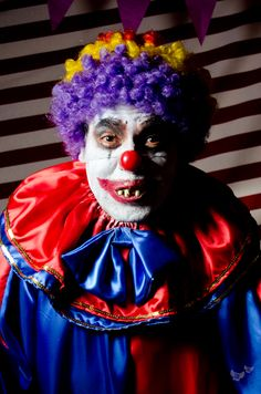 Scary Clown at Halloween